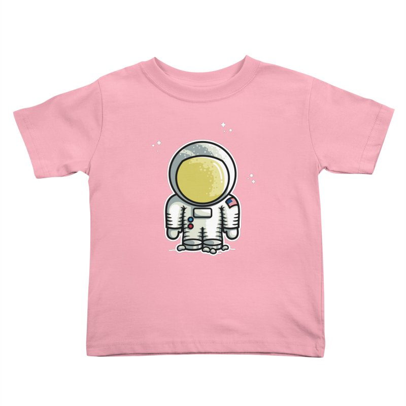 Cute Astronaut Kids Toddler T-Shirt by Flaming Imp's Artist Shop