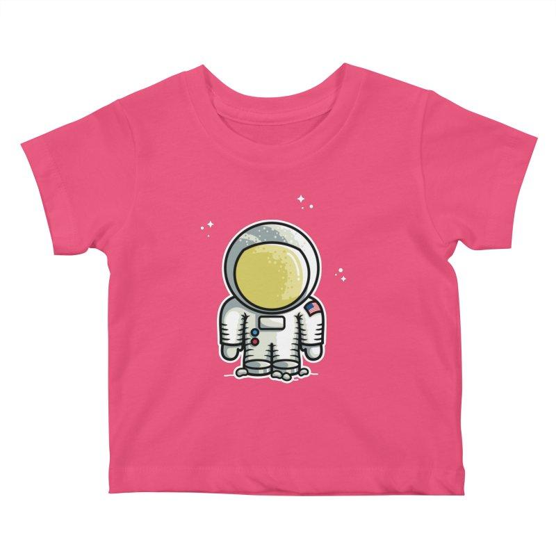 Cute Astronaut Kids Baby T-Shirt by Flaming Imp's Artist Shop