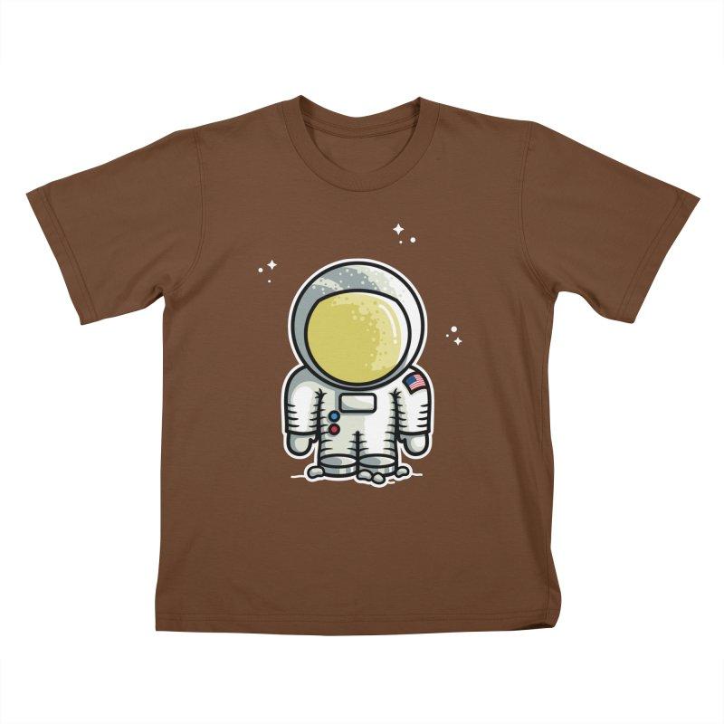 Cute Astronaut Kids T-Shirt by Flaming Imp's Artist Shop