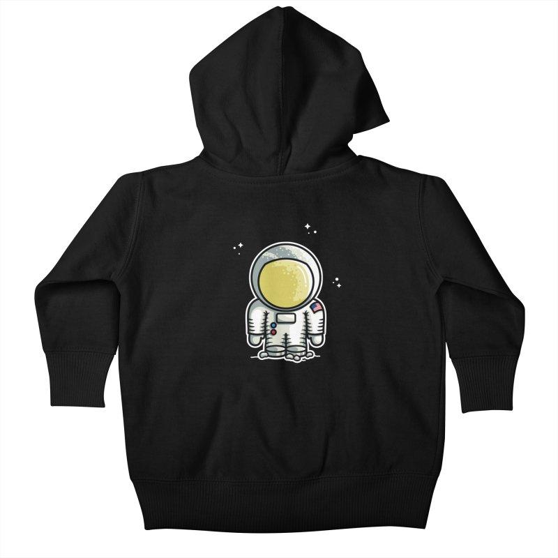Cute Astronaut Kids Baby Zip-Up Hoody by Flaming Imp's Artist Shop