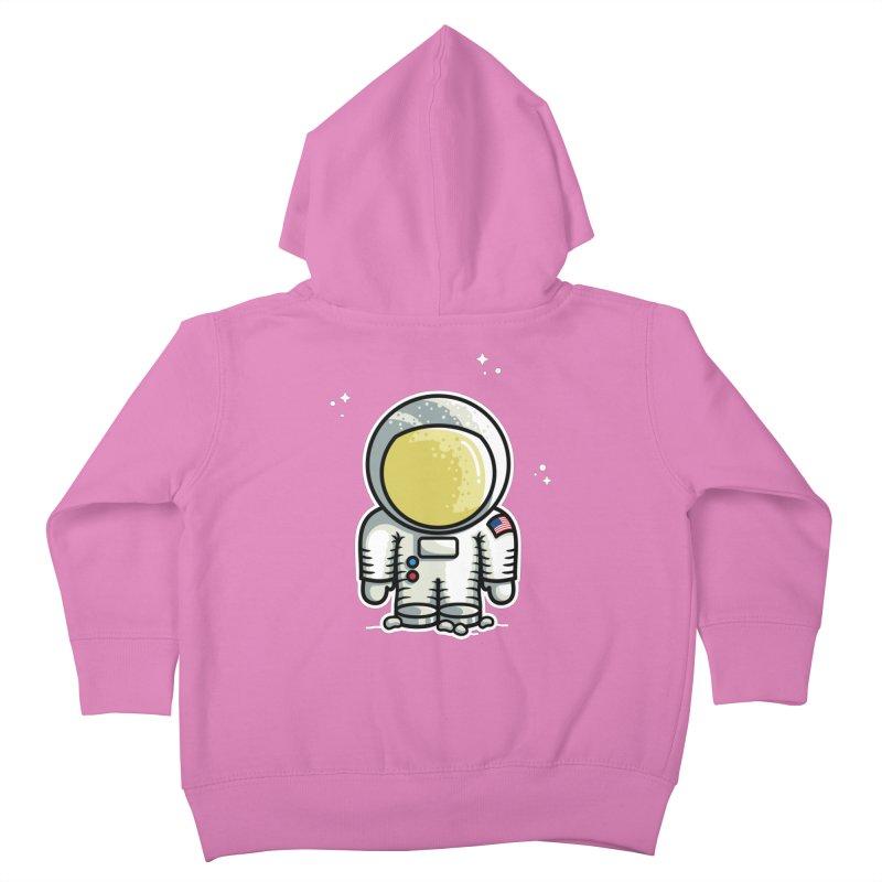 Cute Astronaut Kids Toddler Zip-Up Hoody by Flaming Imp's Artist Shop