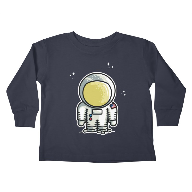 Cute Astronaut Kids Toddler Longsleeve T-Shirt by Flaming Imp's Artist Shop