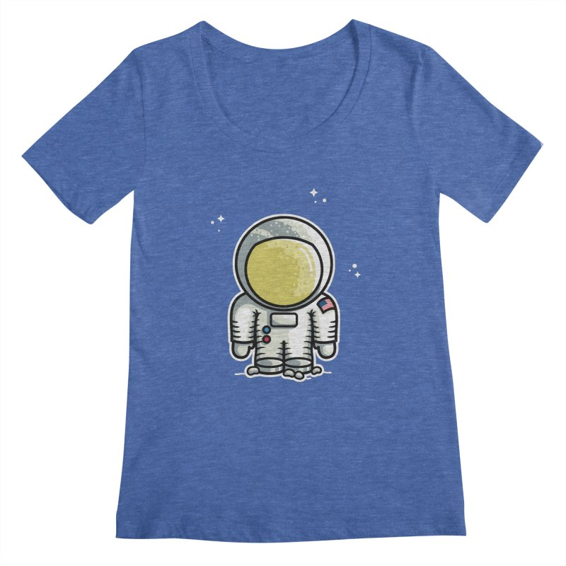 Cute Astronaut Women's Regular Scoop Neck by Flaming Imp's Artist Shop
