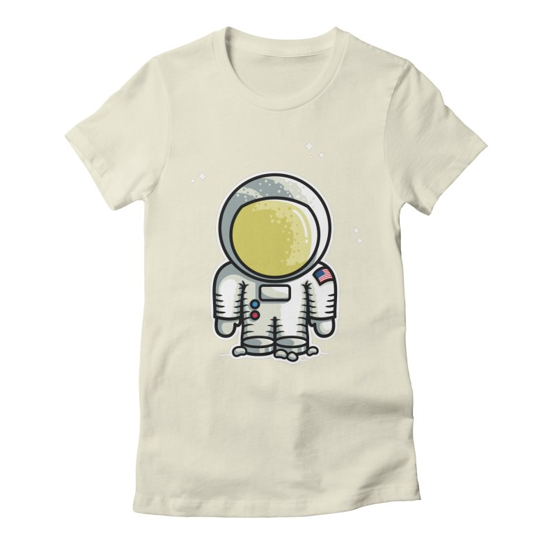 Cute Astronaut Women's Fitted T-Shirt by Flaming Imp's Artist Shop