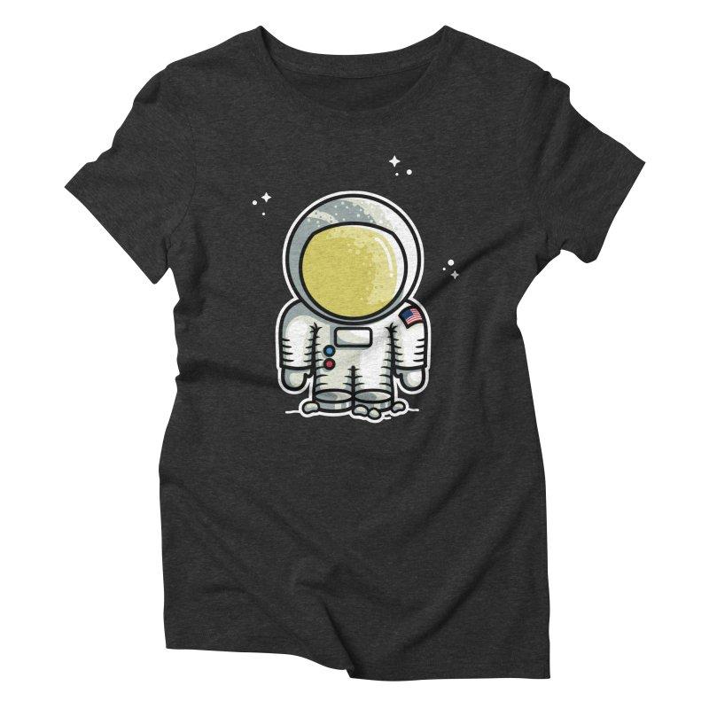 Cute Astronaut Women's Triblend T-Shirt by Flaming Imp's Artist Shop