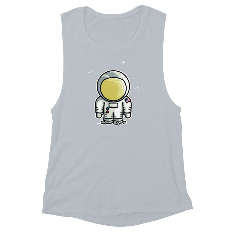 Cute Astronaut Women's Muscle Tank by Flaming Imp's Artist Shop
