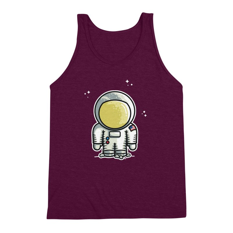Cute Astronaut Men's Triblend Tank by Flaming Imp's Artist Shop