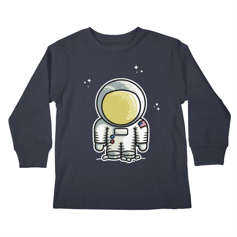 Cute Astronaut Kids Longsleeve T-Shirt by Flaming Imp's Artist Shop