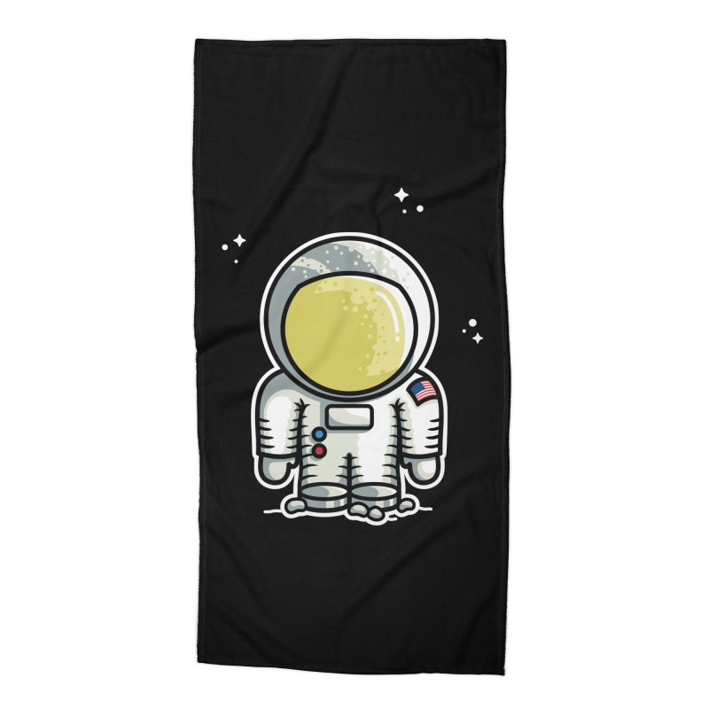Cute Astronaut Accessories Beach Towel by Flaming Imp's Artist Shop
