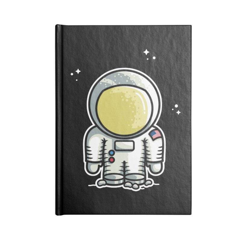 Cute Astronaut Accessories Blank Journal Notebook by Flaming Imp's Artist Shop