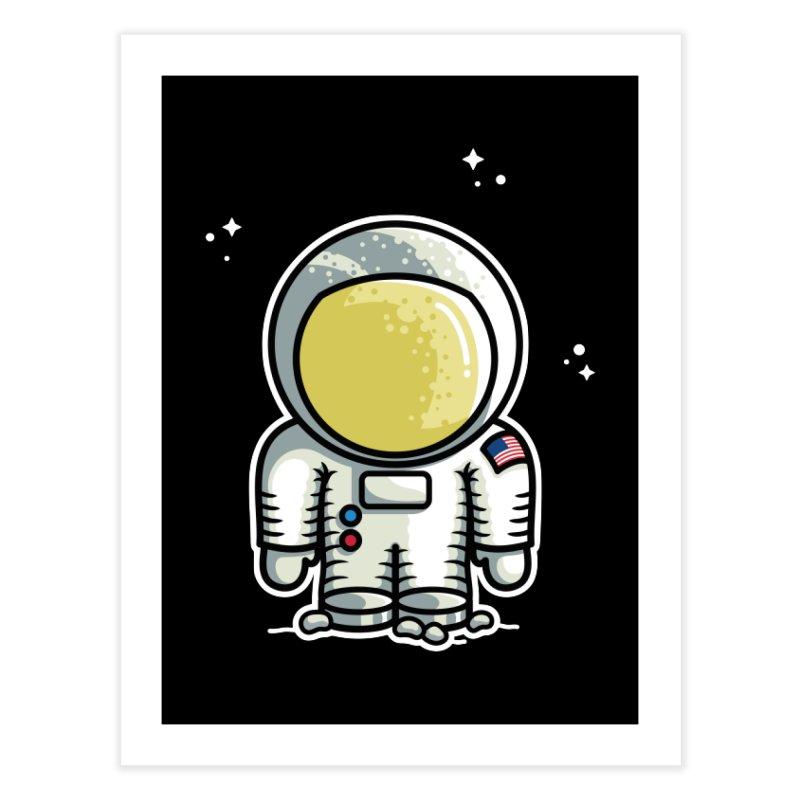 Cute Astronaut Home Fine Art Print by Flaming Imp's Artist Shop