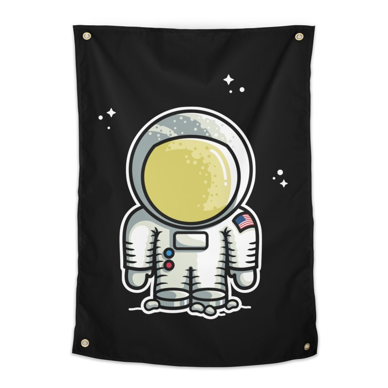 Cute Astronaut Home Tapestry by Flaming Imp's Artist Shop