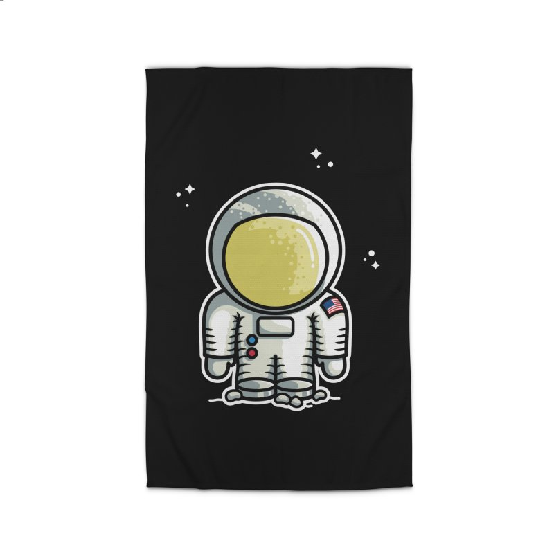 Cute Astronaut Home Rug by Flaming Imp's Artist Shop