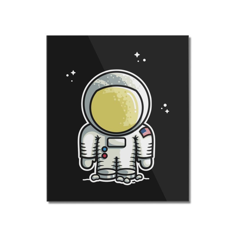 Cute Astronaut Home Mounted Acrylic Print by Flaming Imp's Artist Shop