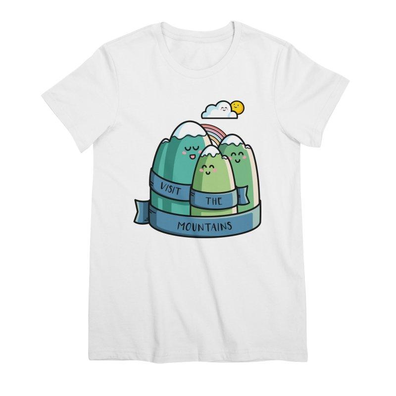 Visit the mountains Women's Premium T-Shirt by Flaming Imp's Artist Shop