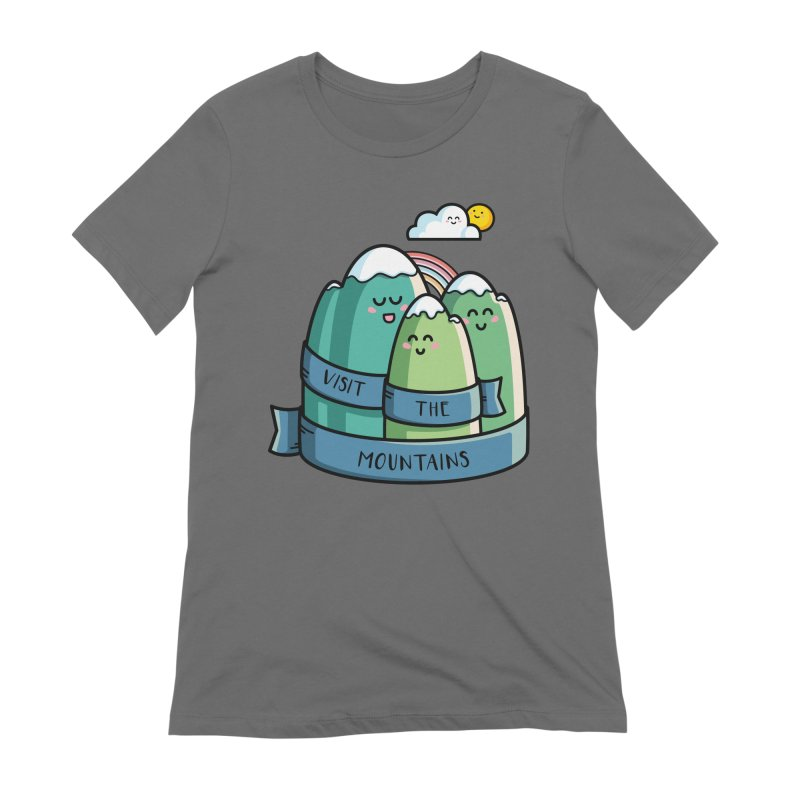 Visit the mountains Women's Extra Soft T-Shirt by Flaming Imp's Artist Shop