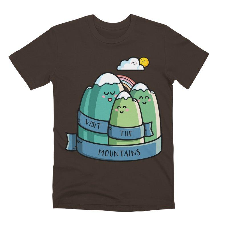 Visit the mountains Men's Premium T-Shirt by Flaming Imp's Artist Shop