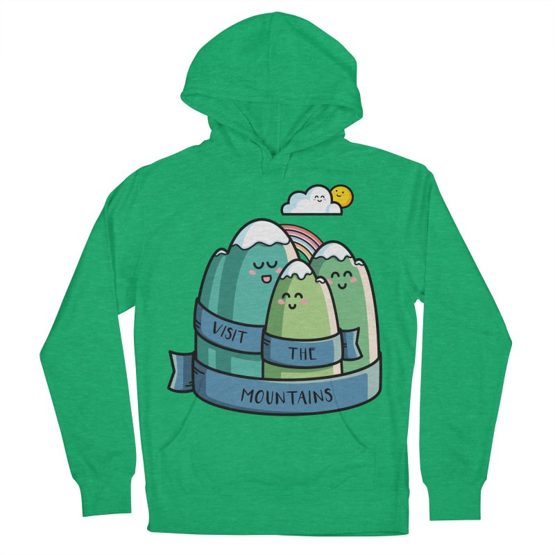 Visit the mountains Women's French Terry Pullover Hoody by Flaming Imp's Artist Shop