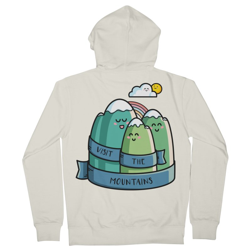 Visit the mountains Women's French Terry Zip-Up Hoody by Flaming Imp's Artist Shop