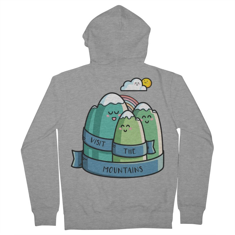 Visit the mountains Men's French Terry Zip-Up Hoody by Flaming Imp's Artist Shop