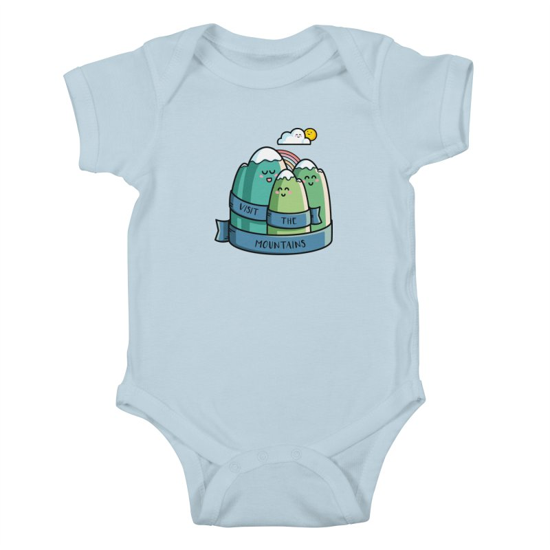 Visit the mountains Kids Baby Bodysuit by Flaming Imp's Artist Shop