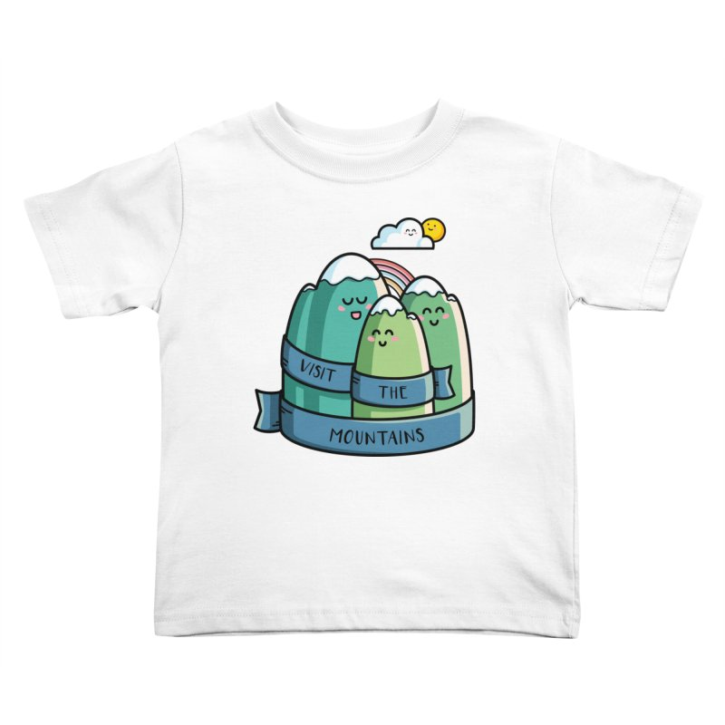 Visit the mountains Kids Toddler T-Shirt by Flaming Imp's Artist Shop