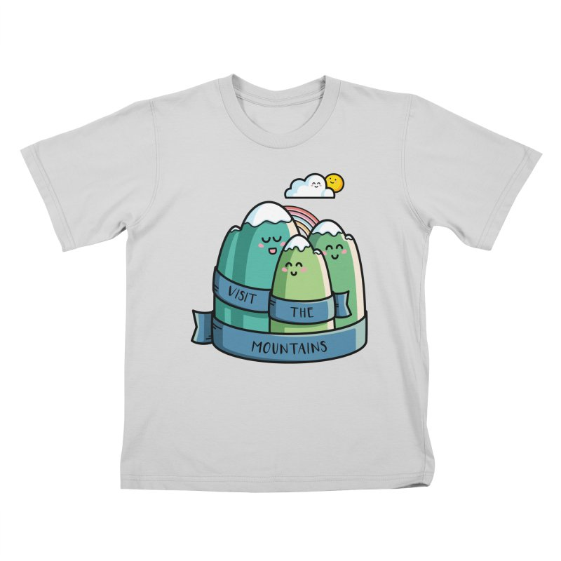 Visit the mountains Kids T-Shirt by Flaming Imp's Artist Shop