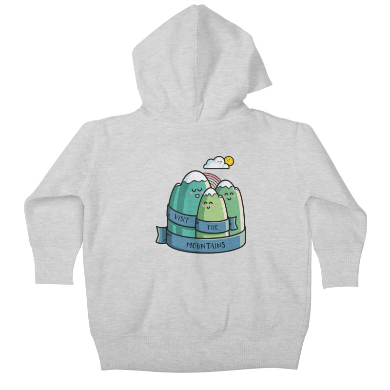 Visit the mountains Kids Baby Zip-Up Hoody by Flaming Imp's Artist Shop