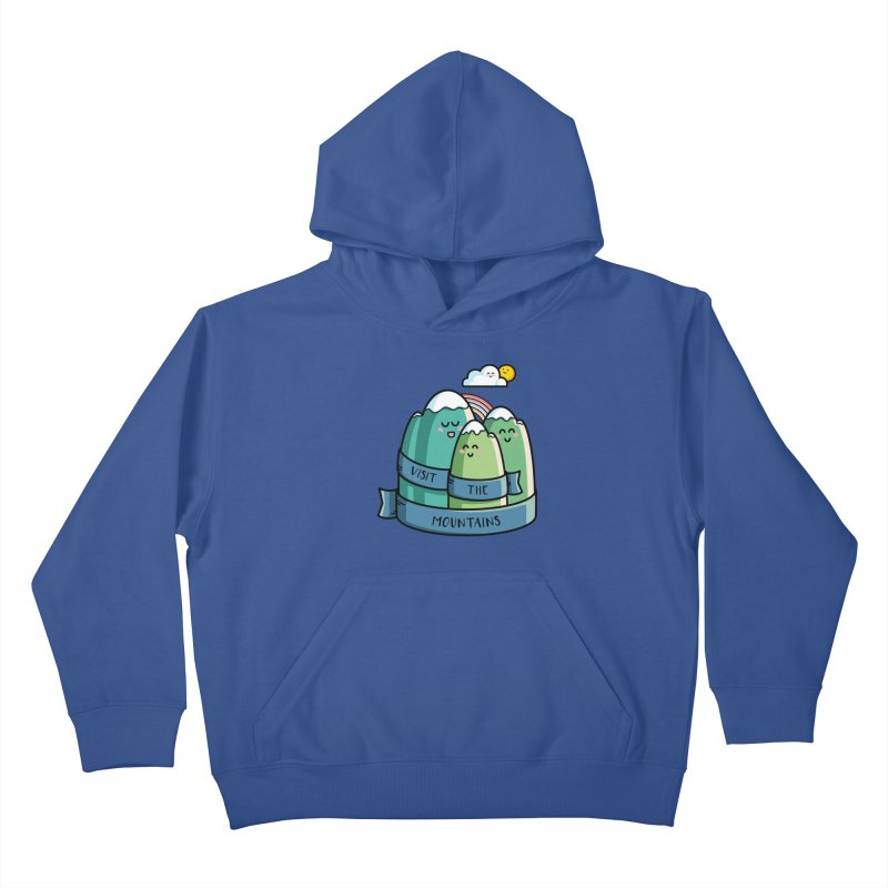 Visit the mountains Kids Pullover Hoody by Flaming Imp's Artist Shop