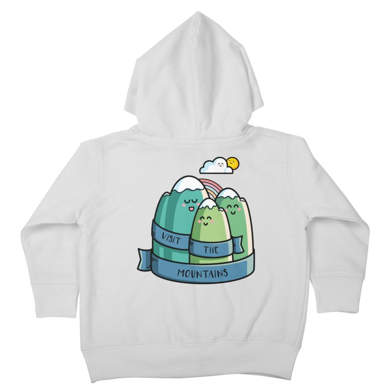 Visit the mountains Kids Toddler Zip-Up Hoody by Flaming Imp's Artist Shop