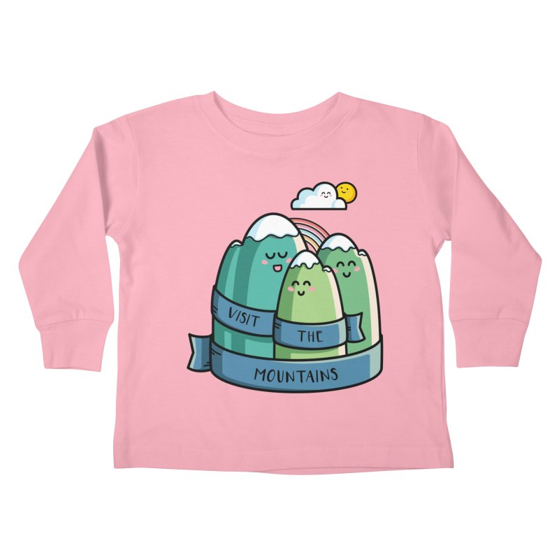 Visit the mountains Kids Toddler Longsleeve T-Shirt by Flaming Imp's Artist Shop
