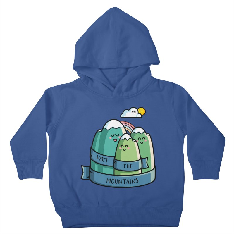 Visit the mountains Kids Toddler Pullover Hoody by Flaming Imp's Artist Shop