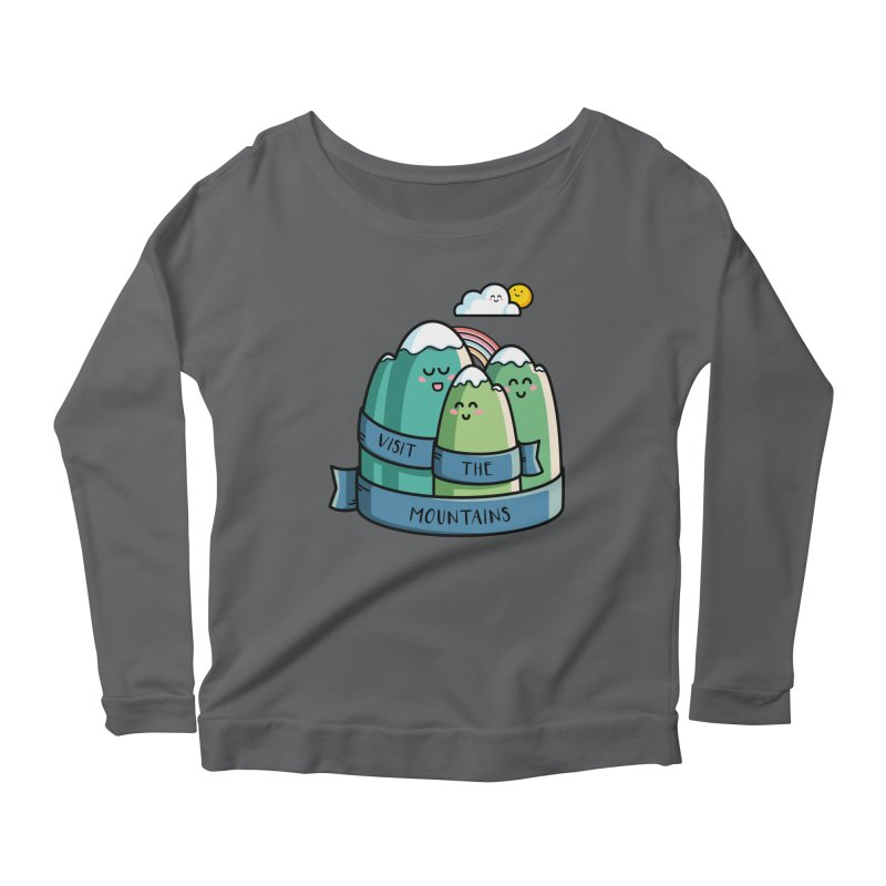 Visit the mountains Women's Scoop Neck Longsleeve T-Shirt by Flaming Imp's Artist Shop