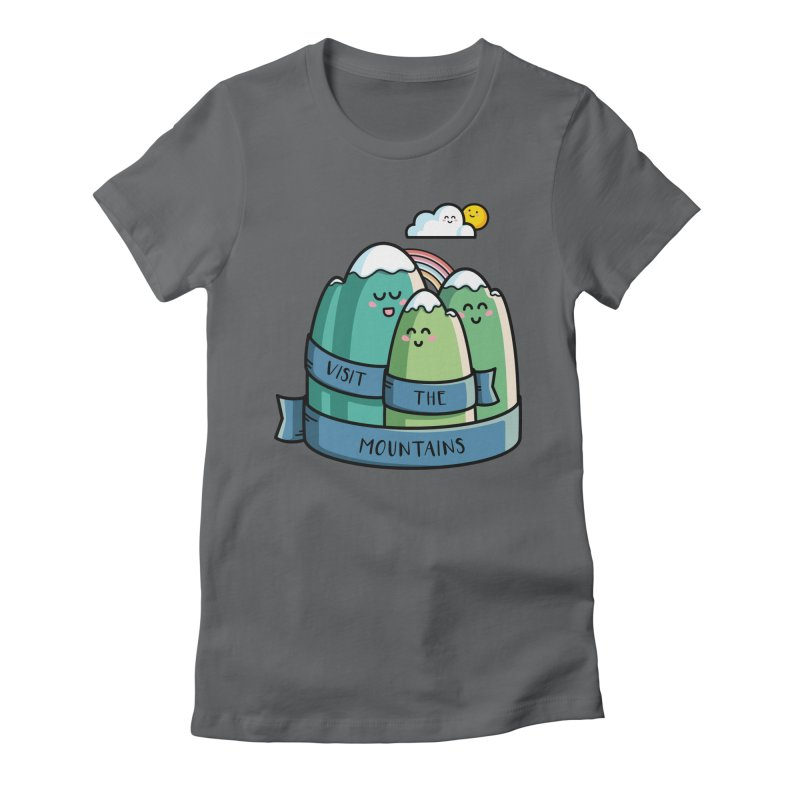 Visit the mountains Women's Fitted T-Shirt by Flaming Imp's Artist Shop