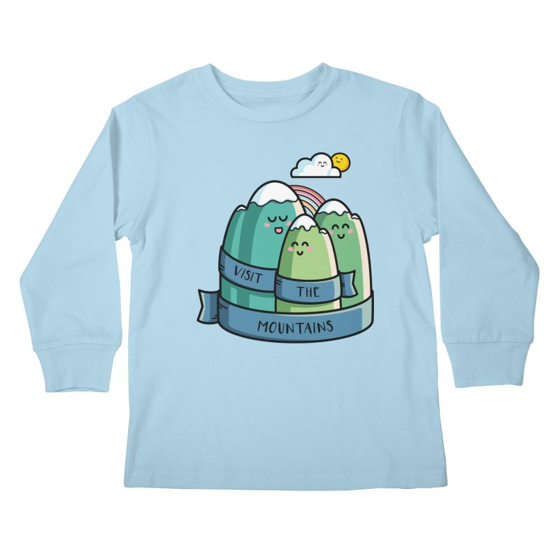 Visit the mountains Kids Longsleeve T-Shirt by Flaming Imp's Artist Shop