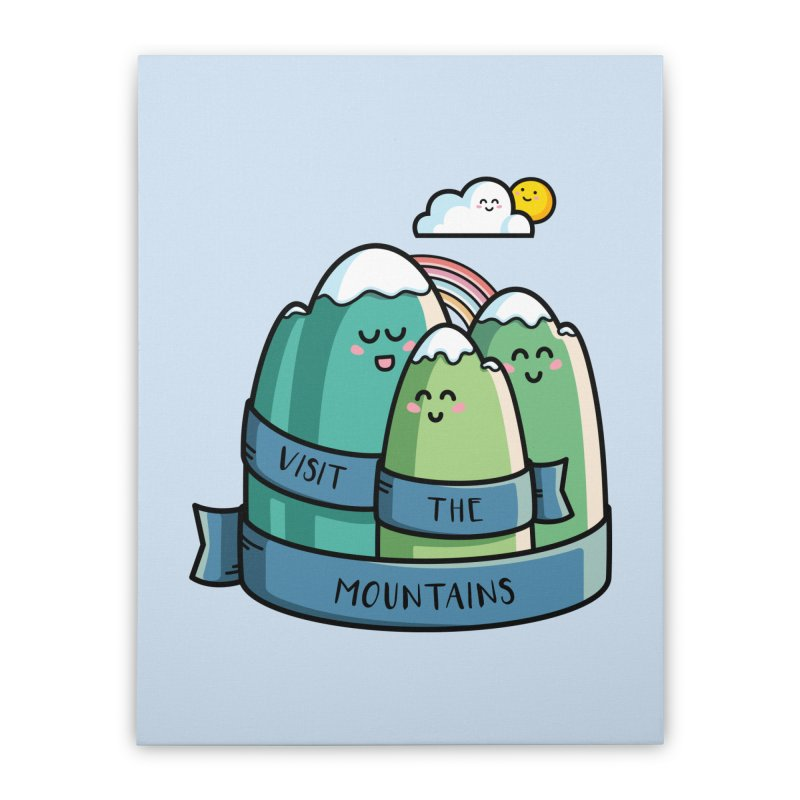 Visit the mountains Home Stretched Canvas by Flaming Imp's Artist Shop