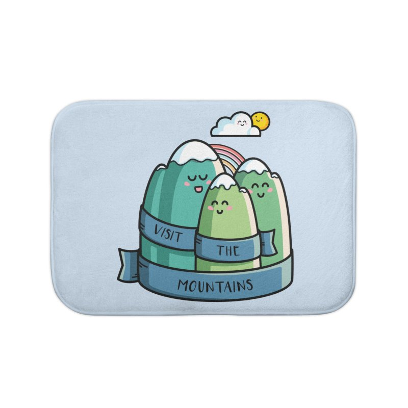 Visit the mountains Home Bath Mat by Flaming Imp's Artist Shop