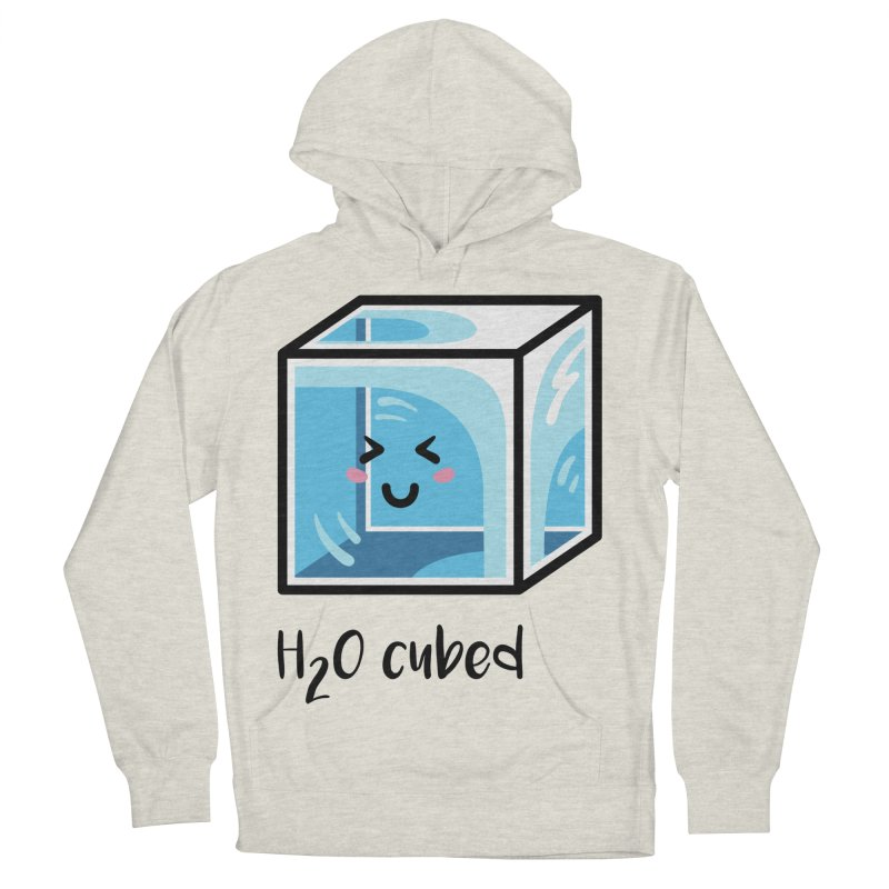 H2O Cubed Ice Block Chemistry Science Joke Men's French Terry Pullover Hoody by Flaming Imp's Artist Shop