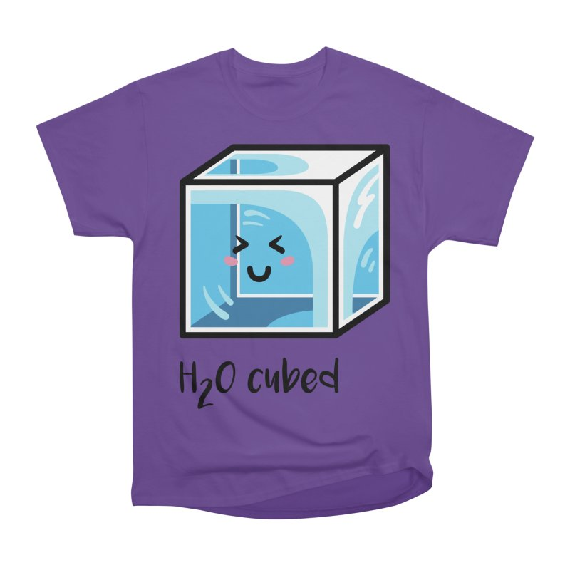 H2O Cubed Ice Block Chemistry Science Joke Women's Heavyweight Unisex T-Shirt by Flaming Imp's Artist Shop