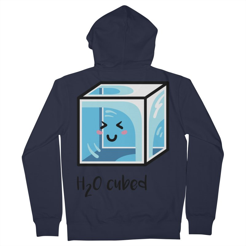 H2O Cubed Ice Block Chemistry Science Joke Men's French Terry Zip-Up Hoody by Flaming Imp's Artist Shop