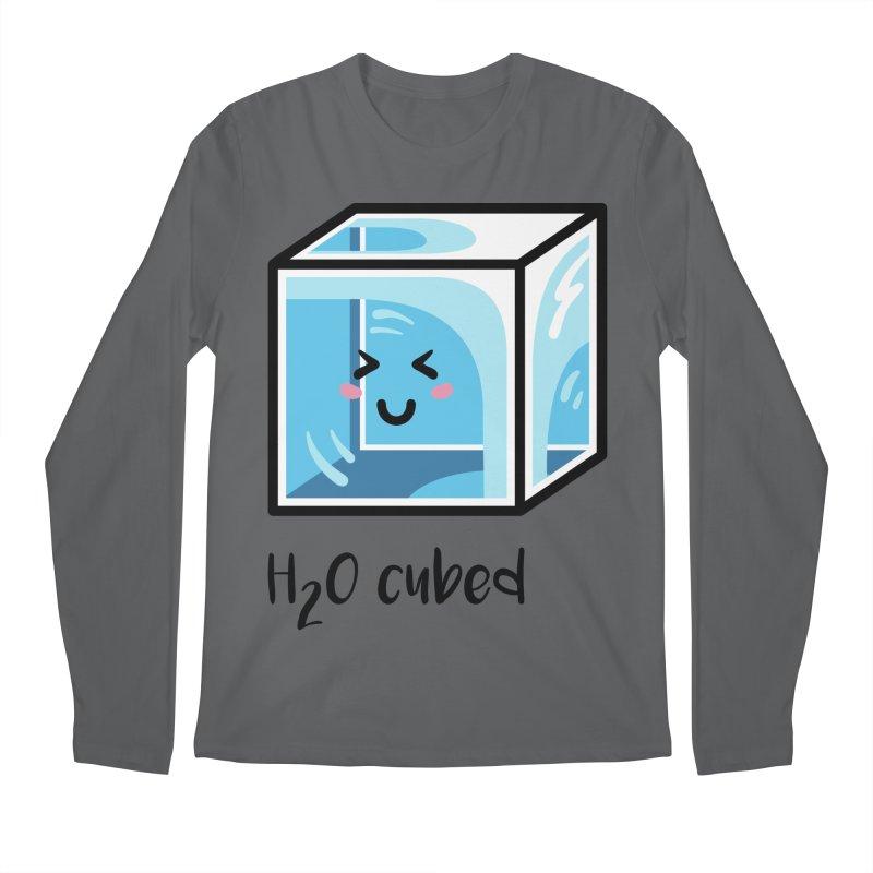 H2O Cubed Ice Block Chemistry Science Joke Men's Regular Longsleeve T-Shirt by Flaming Imp's Artist Shop