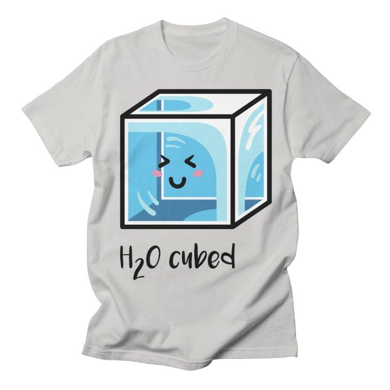 H2O Cubed Ice Block Chemistry Science Joke Men's Regular T-Shirt by Flaming Imp's Artist Shop