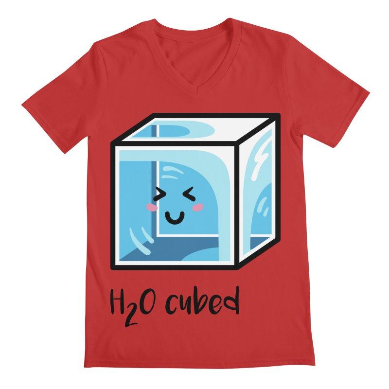 H2O Cubed Ice Block Chemistry Science Joke Men's Regular V-Neck by Flaming Imp's Artist Shop