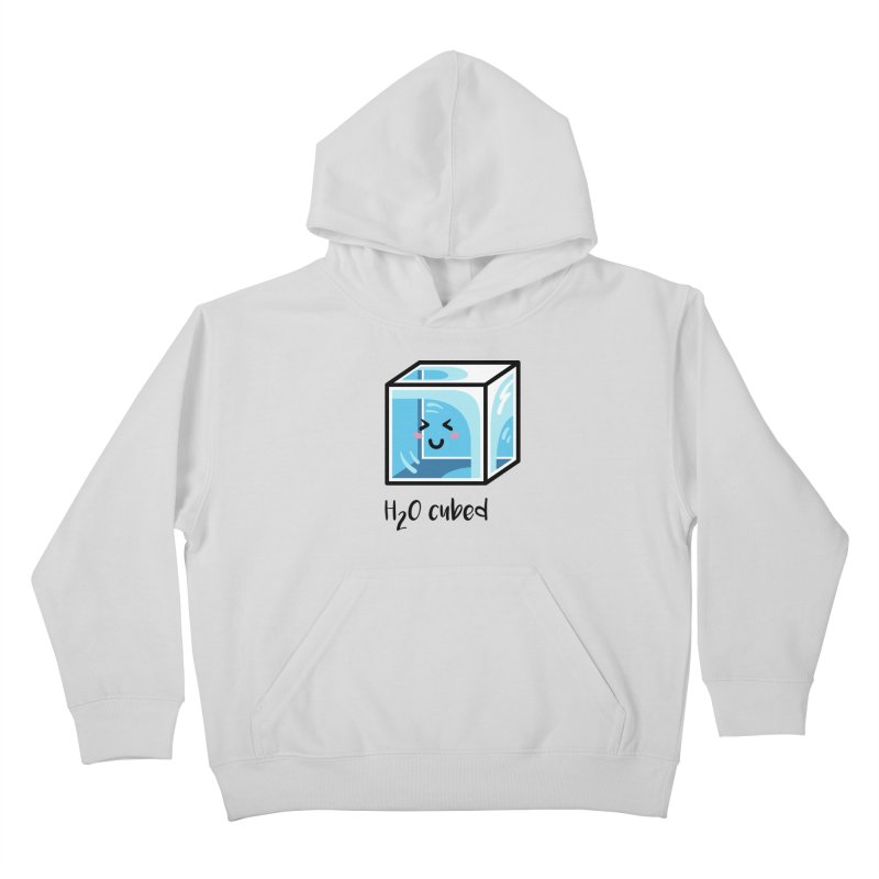 H2O Cubed Ice Block Chemistry Science Joke Kids Pullover Hoody by Flaming Imp's Artist Shop