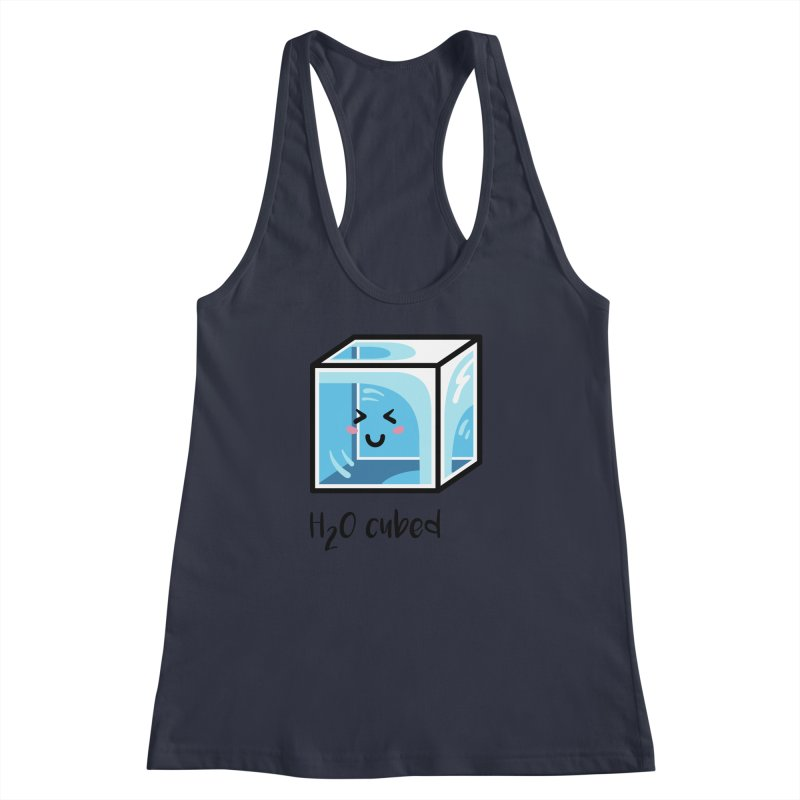 H2O Cubed Ice Block Chemistry Science Joke Women's Racerback Tank by Flaming Imp's Artist Shop