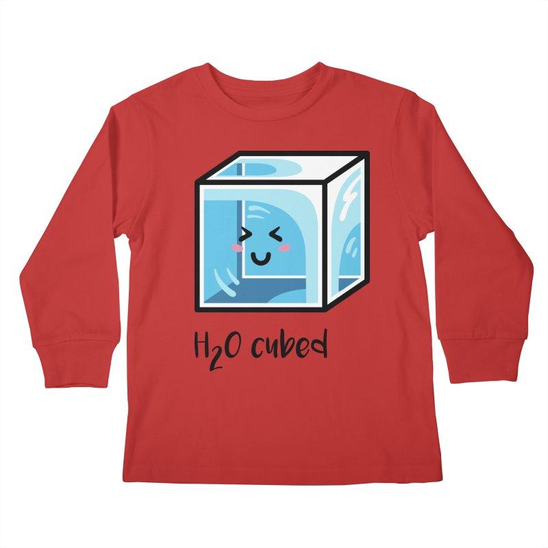 H2O Cubed Ice Block Chemistry Science Joke Kids Longsleeve T-Shirt by Flaming Imp's Artist Shop