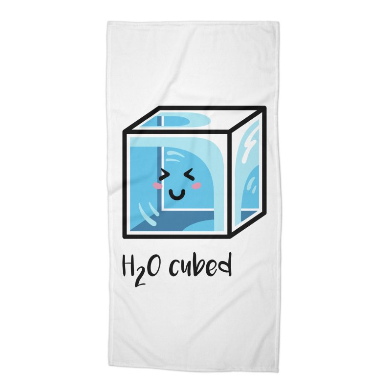 H2O Cubed Ice Block Chemistry Science Joke Accessories Beach Towel by Flaming Imp's Artist Shop