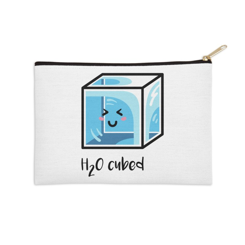 H2O Cubed Ice Block Chemistry Science Joke Accessories Zip Pouch by Flaming Imp's Artist Shop