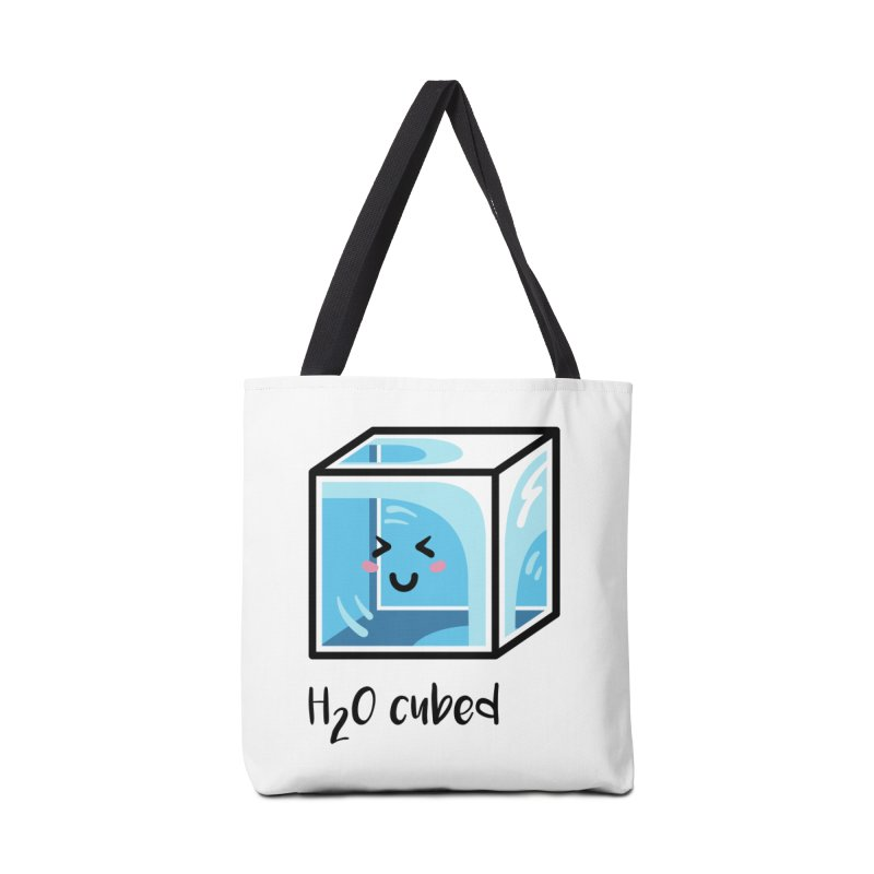 H2O Cubed Ice Block Chemistry Science Joke Accessories Tote Bag Bag by Flaming Imp's Artist Shop