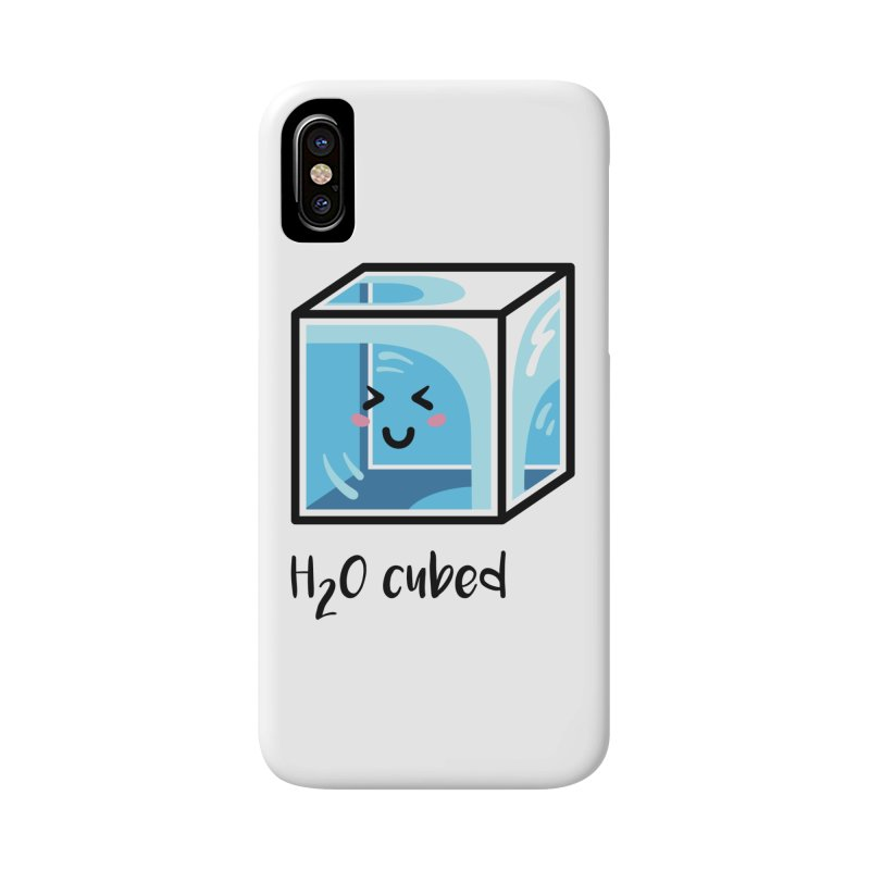 H2O Cubed Ice Block Chemistry Science Joke Accessories Phone Case by Flaming Imp's Artist Shop